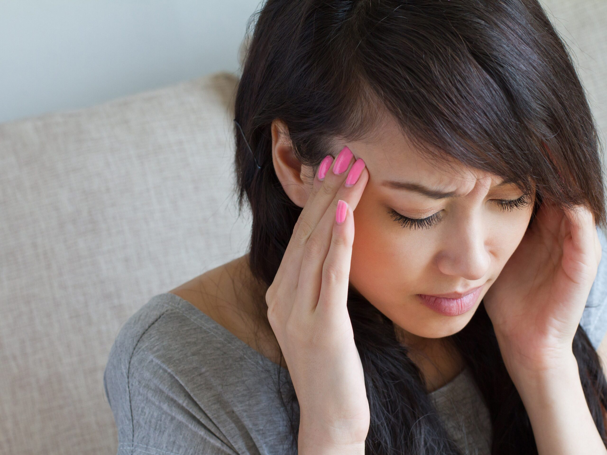 Girl with migraine image